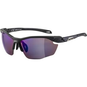 Alpina Twist Five HR HM+ Occhiali, black matt/blue mirror